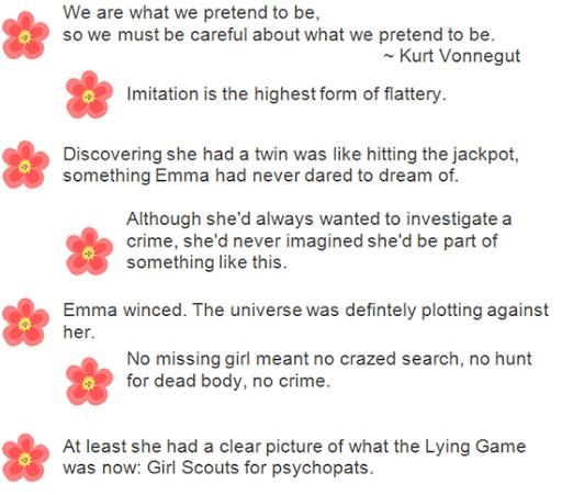 Citati iz knjige The Lying Game