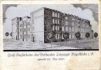 Großkeglerheim des Verbandes Leipziger Kegelklubs, geweiht 25. Mai 1930, colorierte Postkarte