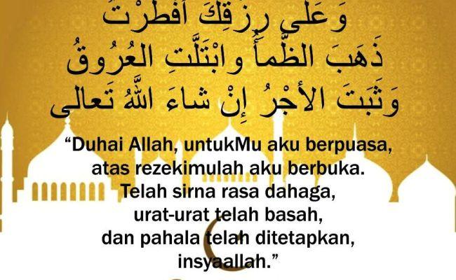 Doa Buka Puasa Ramadhan Yang Benar Dan Artinya Lengkap Islam Cendekia Cute766