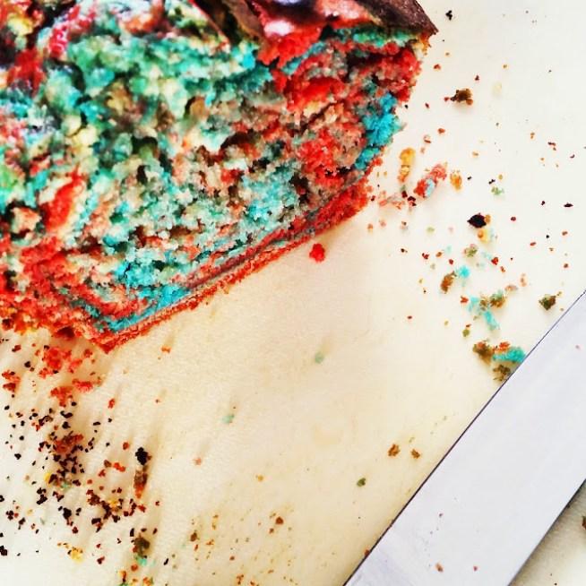 Geburtstagskuchen - Regenbogenkuchen