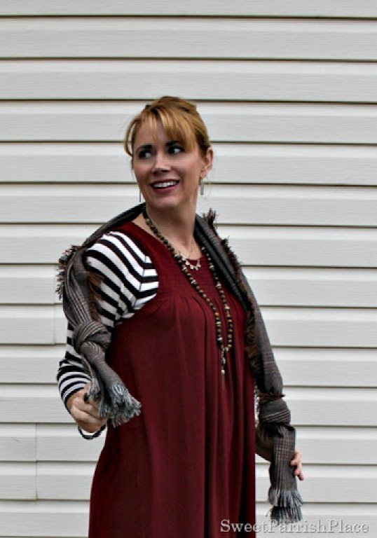 red-tunic-brown-leggings-stripes-plaid-booties-5