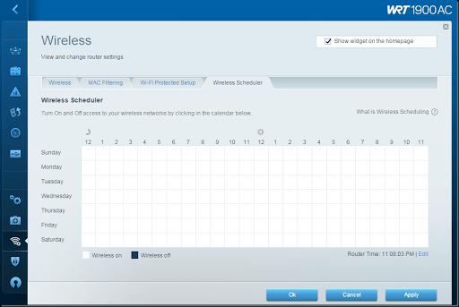 jadwal fitur wireless scheduler wifi linksys