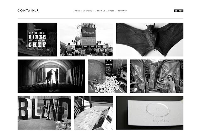 *充滿雜訊效果的灰色時尚:Contain.r Web Site 1