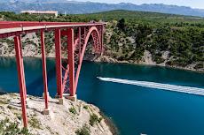 Bridge 'Maslenicki most' on the way to Paklenica.