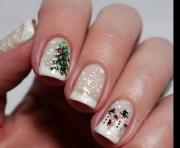 christmas snow nail art design
