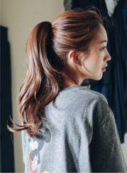 korean ponytail hairstyles female