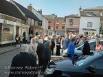 Worshippers gather for the ecumenical service at midday in the Corn Market on Good Friday