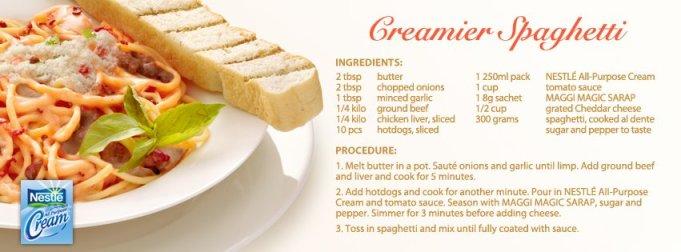 Nestle Cream's Creamier Spaghetti