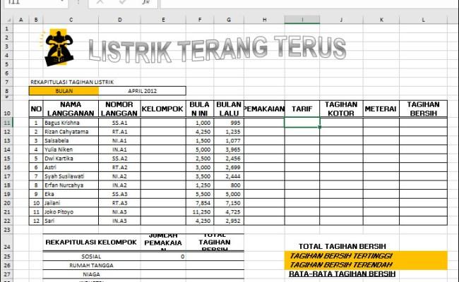 Contoh Soal Latihan Excel Yang Sulit Banget Terupdate Cute766