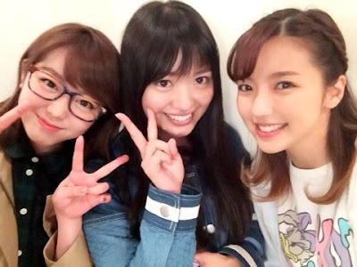 AKB48峯岸みなみ、NGT48北原里英と真野恵里菜(まのりえ)