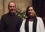 Rev. Tim Sledge with Ven. Karen Gorham