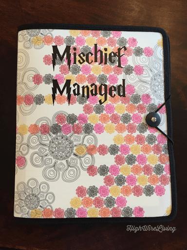 mischief managed notebook
