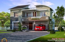 Modern Mix Double Storied House - Kerala Home Design And
