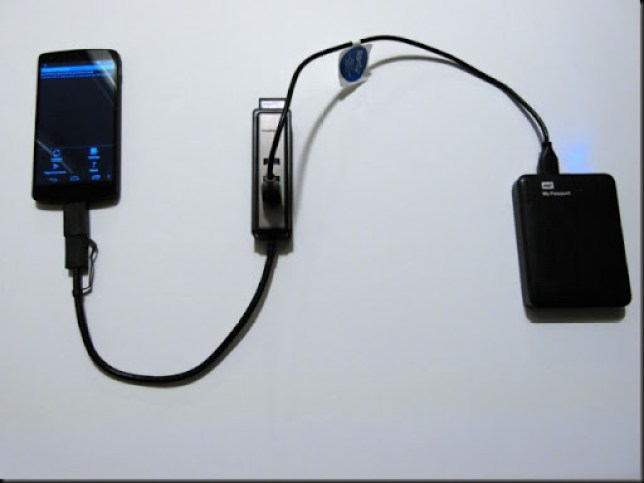 usb otg untuk mengakses data hardisk eksternal