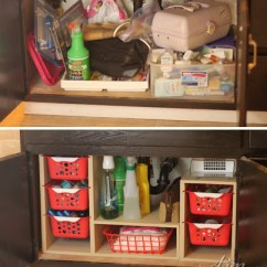 Under Cabinet Shelving Kitchen Aid Grills Undersink Organizer With Pull Out Baskets The Kim Six Fix Sink Before And After Organization