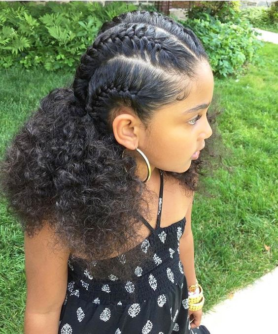 +10 Cornrows Hairstyles For Little Kids 2018 5