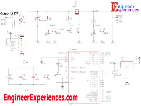 Circuit Diagram of 7Ah Battery Charger