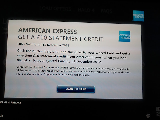 £10 credit on amexbox