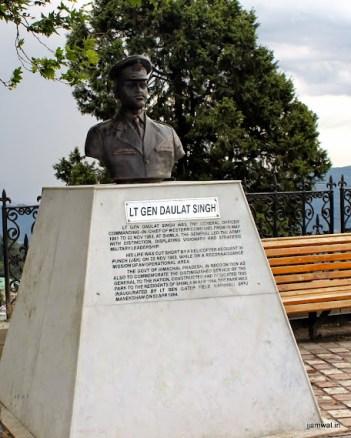 Memeorial to Lt Gen Daulat Singh on Mall Road