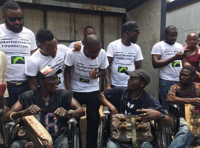 Obafemi Martins Foundation Donates Wheelchairs And Crutches To People With Disabilities. 11