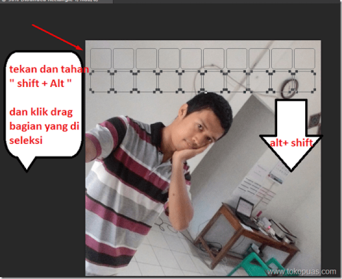 tutorial efek photoshop kotak in heart