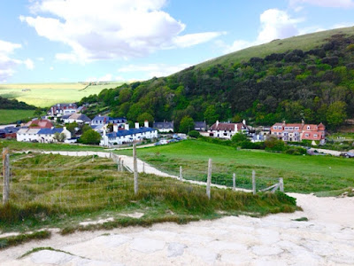 View of Lulworth, on Dorset's Jurassic Coast