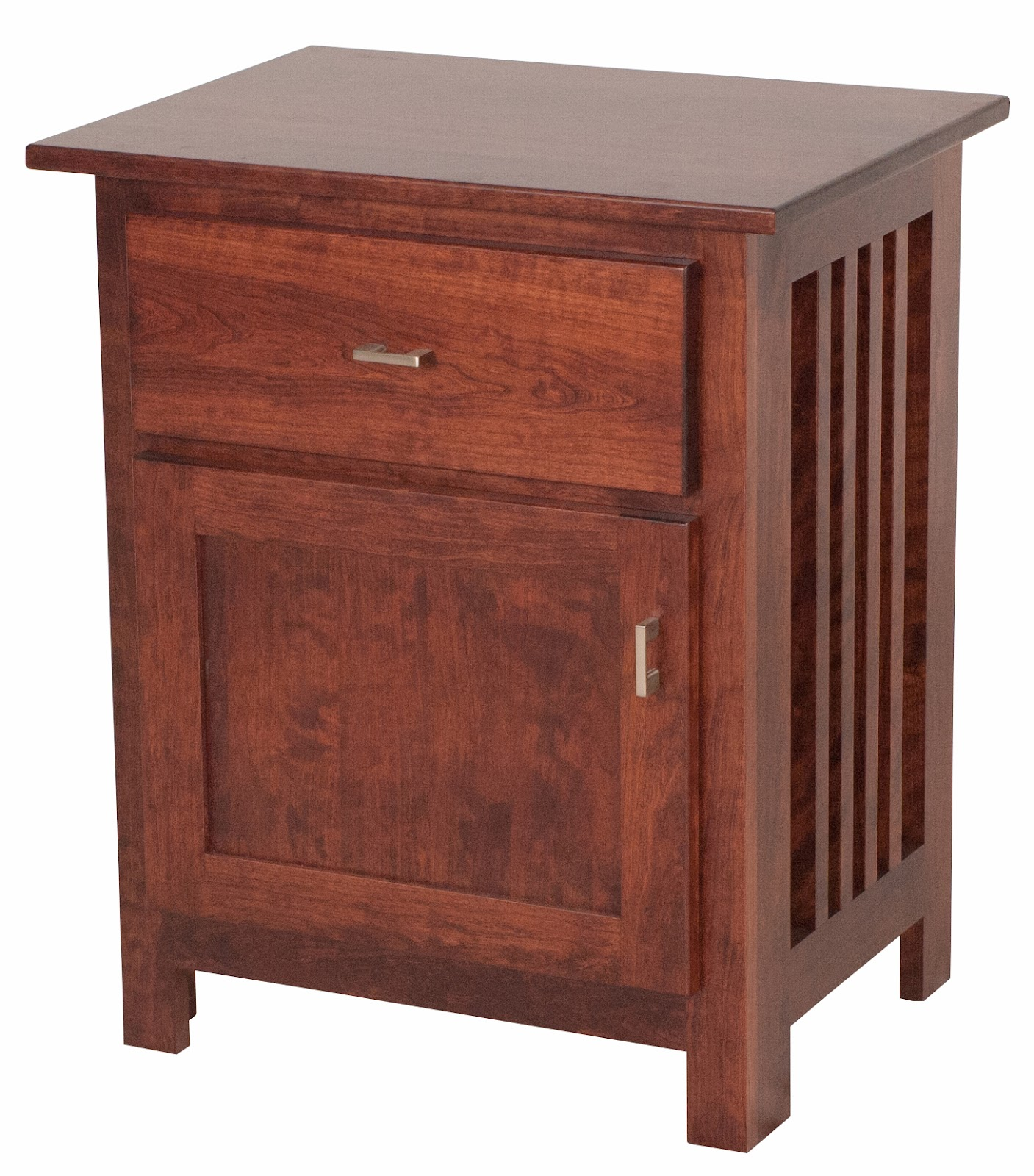 Mission Nightstand With Doors Solid Wood Nightstand In The