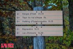 Cartel al comienzo de la ruta. ©aunpasodelacima