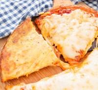 Flourless Cheese Crust Pizza - Kirbie's Cravings