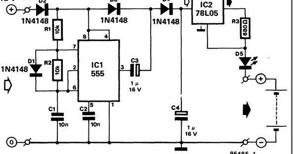 schematic for battery charger