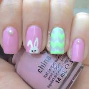 elegant easter nail art design