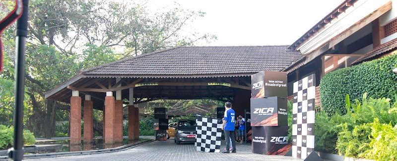Flag-off tata zica from the resort - Alila Diva Goa