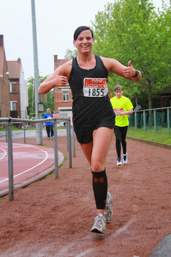 Sharon Labaere in jogging van Krottegemse Corrida