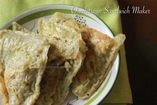 Omelette in Sandwich Maker2
