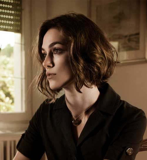 Keira Knightley Side Swept Bob With Round Faces Fashion 2d