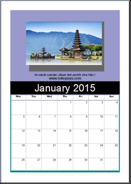 cara mendesain calendar 12