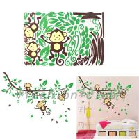 DIY Monkey Forest Removable Vinyl Wall Decal Stickers Art ...