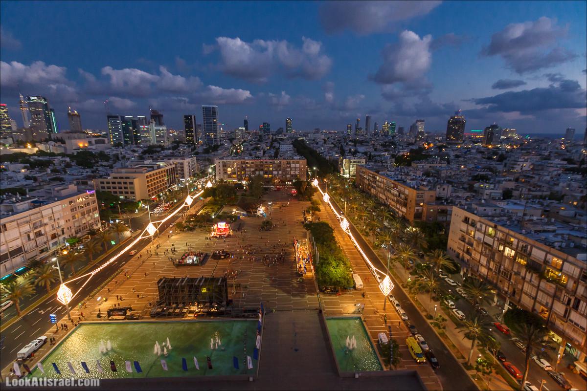 Тель Авив с крыши муниципалитета (ирии) | Tel Aviv municipality roof view | על הגג של עיריית תל אביב | LookAtIsrael.com - Фото путешествия по Израилю