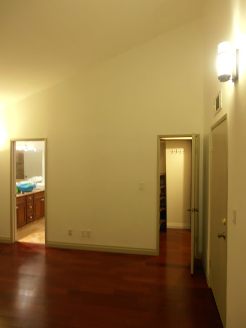 Master Bedroom - High ceilings and fully furnished walking closet.  Hardwood floor throughout the house