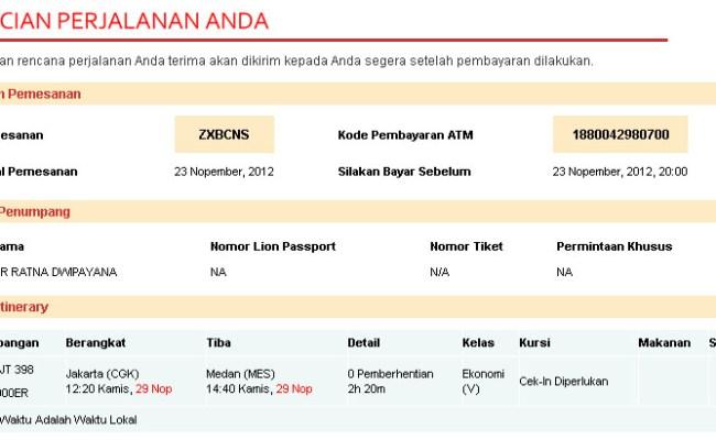 Cara Pesan Tiket Pesawat Online Lion Air Dokter Andalan