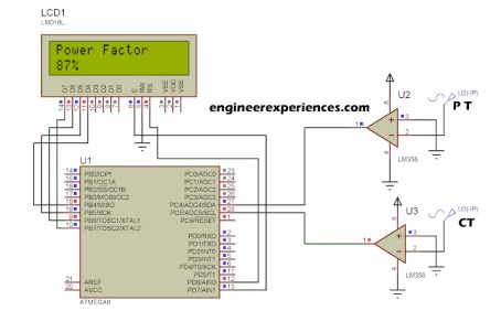 Power Factor Simulation Diagram