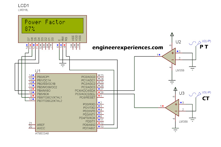 Power factor measurement using ATmega8 /16 | Engineer Experiences