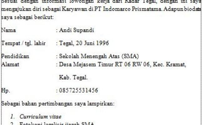Contoh Contoh Surat Lamaran Kerja Karyawan Minimarket Indomaret Dan Alfamart Guru Bahasa Indonesia Cute766