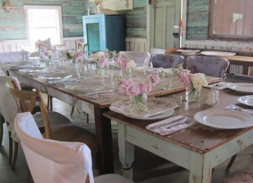 Comedor Vintage Shabby Chic | Shabby Chic Dining Room Table Shabby ...