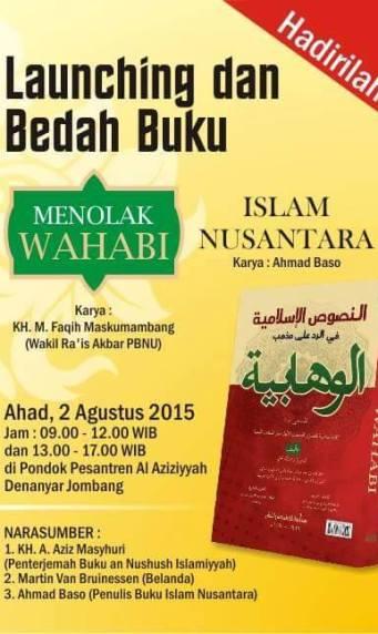 Launching dan Bedah Buku Menolak Wahabi