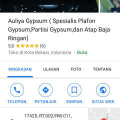 Baja Ringan Jatiasih Auliya Gypsum Spesialis Plafon Partisi Dan Atap