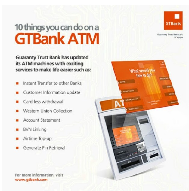 10 Things You Can Now Do on Any GTBANK ATM