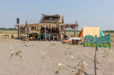 Beautiful Hippie houses on the beach...