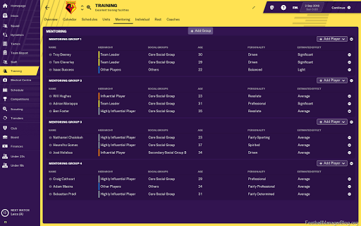 Football Manager 2019 – New Features – Training Overhaul | FM BLOG