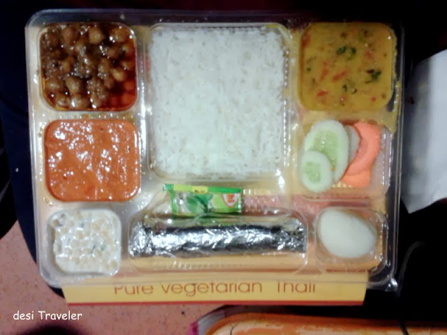 Dinner packet indian train food tiffin